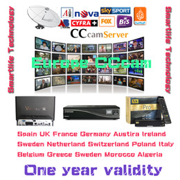 Wholesale CCcam cline account CCcam Server year validity free trial support CCCAM Receiver canalsat hd sky UK Italy Spain euro IPTV
