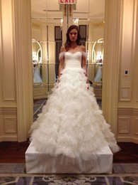 Custom Made Marchesa Ball Gown Vintage Wedding Dresses Off-Shoulder Tiered Ruffle Ball Gown Floor Length Long Sexy Bridal Gowns Plus Size