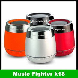Wholesale Music fighter K18 bluetooth multi media portable stereo hands free calling tf card play duties speakers for tablet mobile phone