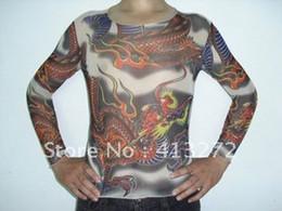 Wholesale-Street punk tattoo t-shirts prison break tattoos clothes wear cloud dragon simulation tattoo clothes S12 tattoos clothes