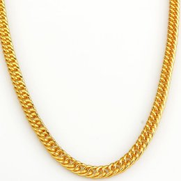 Wholesale-Wholesale 18K Gold Plated Necklace Hip Hop Mens Jewelry New Trendy Rock Tyga Chain Necklace For Men