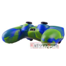 Acheter en ligne Contrôleur ps4 couvercle du boîtier-Vente en gros 1 PCS Silicone Gel Rubber Duable Housse de protection pour la peau Housse pour Playstation 4 PS4 Controller Green Blue Camo