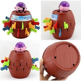 Wholesale Kids Pop Up Pirate Barrel Nerf Sword Classic Game Toys Funny Gadgets