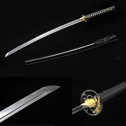 Wholesale bushido handmade katanas swords katanas samurai japanese swords Sharp katana Metal crafts alloy tsuba synthetic leather