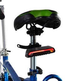 Wholesale Rainproof Bicycle Lights Rechargeable Cycling Bike Wireless Remote Control Rear Lamp Light Automatic Sensor Laser Taillight Y0754