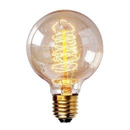 Wholesale Edison Vintage Antique G80 V W E27 Light Ceiling Lamp Bulb Lighting Reproduction Droplight Incandescent Home