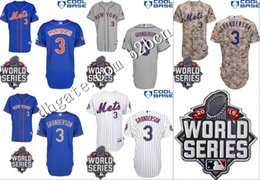Wholesale New York Mets Juan Uribe Jerseys w World Series Patch Blue Camo Grey White Curtis Granderson Mets Jersey Stitched size S XL