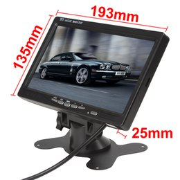 Wholesale 2pcs Inch TFT LCD Color Video Input Car RearView Headrest Monitor DVD VCR Monitor CMO_380