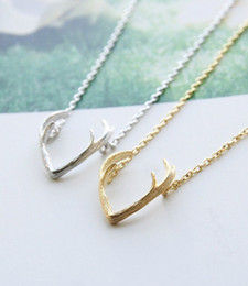 Fashion antlers necklaces, 18k Gold Plated Silver Plated Rose Gold Plated necklaces for women wholesale free shipping
