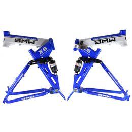 Wholesale BMW X6 Mountain Bike Frames Aluminum Alloy Bike Frame Full Suspension Folding Bike Frames on Discount A16
