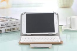Wholesale Shipping Tablet Window - Hottest Universal 7 inch PU Leather Bluetooth Keyboard With Case Support ios Android and Windows Operating System Tablet pc Free Ship