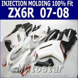 Wholesale Injection molding full fairing kit for Kawasaki ZX R zx636 Ninja aftermarket ZX6R red black white fairings set SF2