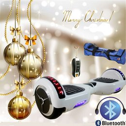 Self Smart Bluetooth Electric Scooter Balancing Electric LED Scooter Smart Bluetooth Hover Board Unicycle 2 Wheels Balance Scooters 6.5Inch