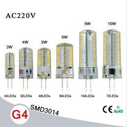 SMD3014 3W / 4W / 5W / 6W / 9W / Lampe en cristal G4 10W AC220V Remplacer 15W 80W lampe halogène 360 lampe à ampoule LED Angle de faisceau LED à partir de lampe halogène 15w conduit fabricateur