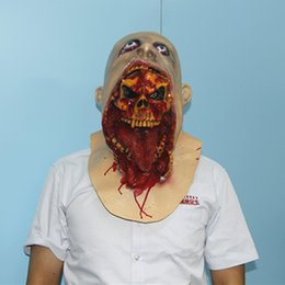 2015 New Ghost Zombie Mask Halloween Full head All Saints' Day Mask Latex Creepy Scary mask horror monster mask