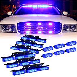 Wholesale 4 x LED flash light control box Car LED warning light strobe light Easy install super bright Car Light Firemen Emergency