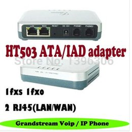 Wholesale HT503 Grandstream Consumer Analog Telephone Adaptors VOIP Telecommunications ATA IAD FXS FXO Port SIP Voip gateway Adapter