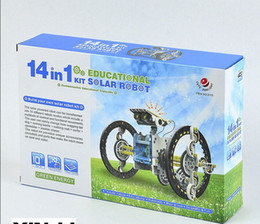 Wholesale 14 in Solar Rechargeable Robot Kit White Black