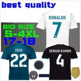 2018 The champions league black Real Madrid Soccer Jersey 17 18 CR7 soccer shirt Ronaldo Bale Football uniforms Asensio SERGIO RAMOS sales
