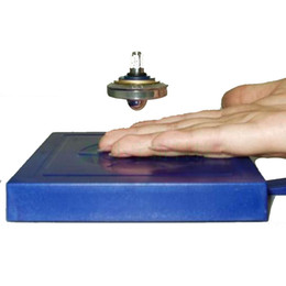 Wholesale Novelty gifts Magic UFO Magnetic Levitation Floating Flying Saucer spinning top toys