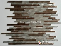 Wholesale strip backsplash wall tiles mosaic tiles deco mosaic tiles LSAL402