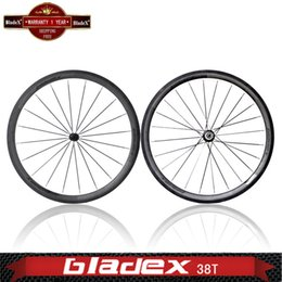 Wholesale Depth mm Clincher Road Bike Wheelset carbon wheels Width mm Carbon Bicycle Wheels Free shopping