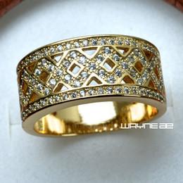 MEN'S 18K GOLD FILLED WEDDING ENGAGEMENT RING BAND (R284) SZ 9