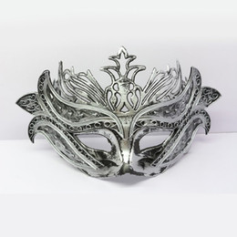 Wholesale Handmade Retro Italy Masquerade Mask Half Face PVC Venice Women Performance Mask Cosplay Party Ball Accessories SD384 Discount
