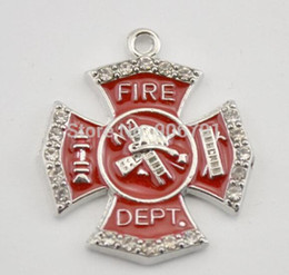 Wholesale New Arrival Zinc Alloy Antique Silver and Rhodium Plated fire department hand stamped ladder pendants decoration