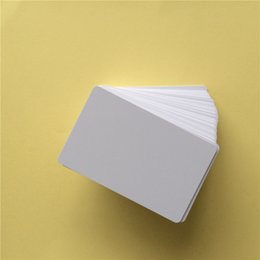 Wholesale 20PCS Waterproof Printable PVC Blank White Card For Epson Canon Inkjet Printer Application Member POS System