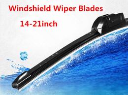 Wholesale Windshield Wipers inch Car Flat Upgrade Frameless Bracketless Rubber Windshield Windscreen Wiper Blade