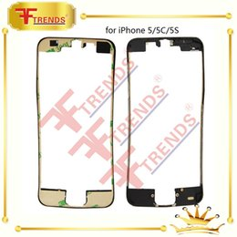 Front LCD Bezel Frame For Apple iPhone 5 5C 5S with 3M Stikcer Glue in Black And White 100% Test
