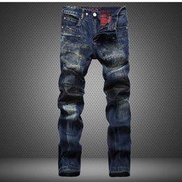 Wholesale True religious men jeans novelty patchwork distrressed hole tassel fashion men slim jeans baggy jeans TB590