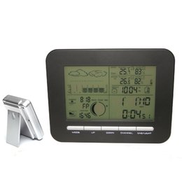Wholesale Weather Station Household Digital Home Barometer Clock Dual Alarms Indoor Thermometer Hygrometer Wireless Outdoor Temperature Humidity Alert