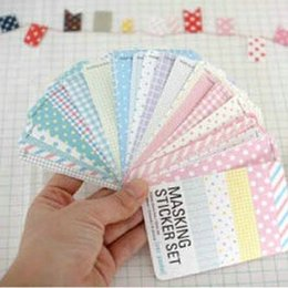 Wholesale-15 Sheets Scrapbook Basic Masking Tape Craft Stickers Pack Decorative Labelling DIY