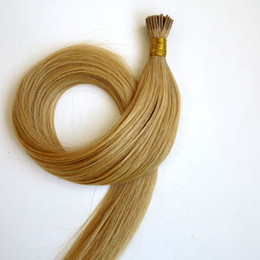 Brazilian I tip Hair extensions Pre-bonded Human hair 50g 50Strands 18 20 22 24inch #22 color Straight Indian hair