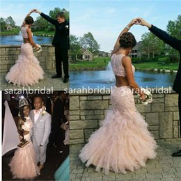 Wholesale Cheap Plus Size Night Dresses - 2015 Light Champagne Mermaid Prom Queen Dresses For Night Dance Hot Sale Cheap Custom Made Lace Ruffle Sequins Robe De Soiree Evening Gowns