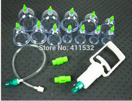 Wholesale 12PCS set Chinese Medical Vacuum Body Cupping Set Acupressure Massage Therapy