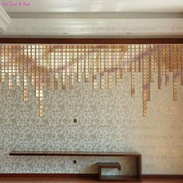 Wholesale 100PC Quadrate Acrylic D Wall Stickers Living Room Bedroom Stereoscopic Decorative
