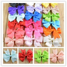 Wholesale 48pcs V Rib Ribbon swallow tailed Bow WITHOUT Hairclip hair bows hairpin Just Bowknots clothing DIY accessories