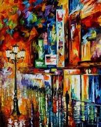 Wholesale the song of the city modern art for sale beautiful Landscape Painting High quality Hand painted