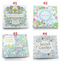 Wholesale Prettybaby Secret Garden coloring book English Simple Version Graffiti Painting Drawing Book Relieve Stress Kill Time books Pt0176