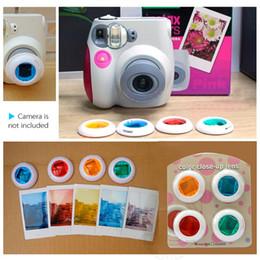 Cierre conjunto de filtro en venta-Filtro de la cámara de naranja + azul + rojo + Color Verde conjunto de primer plano de la lente para Fujifilm Instax mini7s Mini8 Cámaras D2482