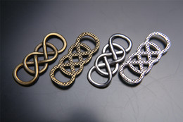 Top Sale 10pieces 33mm Lover infinity Love Charms Silver Pendant connector 7132 DIY Jewelry Beads Hook Clasp Caps Europe Bracelet Necklace