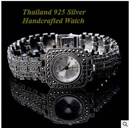 Wholesale Handcrafted Silver Watch Limited Edition Antique Watches Thailand Silver Jewelry Vine Fashionable Women Watch Valentine Girl Gift