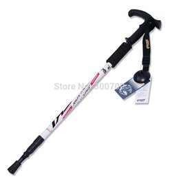 Wholesale Curved Handle Affordable Alpenstock Practical Outdoor Trekking Pole The elderly Crutches High Quality Walking Stick