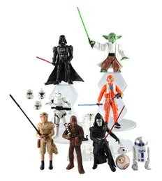 Wholesale Star Wars design The Force Awakens Figurine toy Black Knight Darth Vader Stormtrooper PVC Action Figures CM Boy Toys DHL Free A