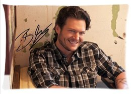 Wholesale American country music singer Blake Shelton Pillow Case Cotton Zippered PillowCase x30 Inch Twin sides