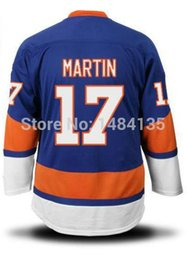 2016 New, Cheap Men's NEW York Islanders Hockey Jerseys #17 Matt Martin Home Blue White Authentic Stitched Jerseys Size S 46--3XL