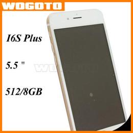 Wholesale 1 phone MTK6572 Dual Core Ghz i6s Plus inch m GB show GB Goophone I6 plus DHL Free